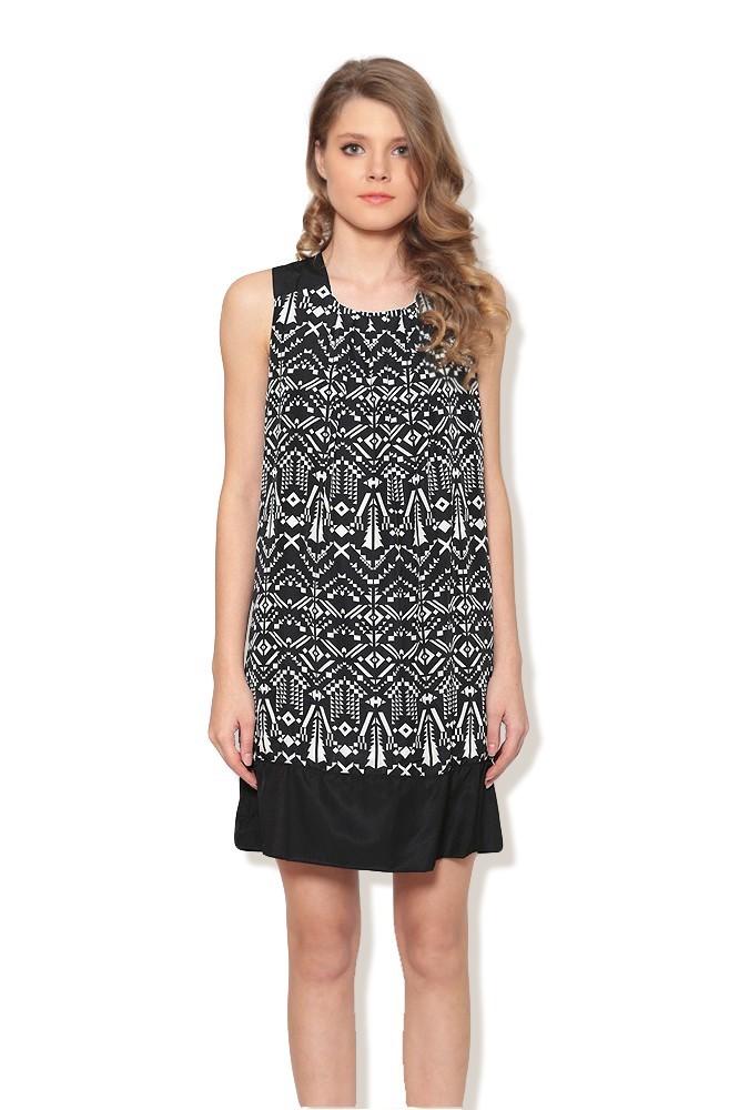 Rochie cu model negru/alb MISCHA