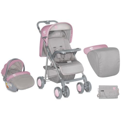 Bertoni-Lorelli - Carucior Aero Set Grey Pink