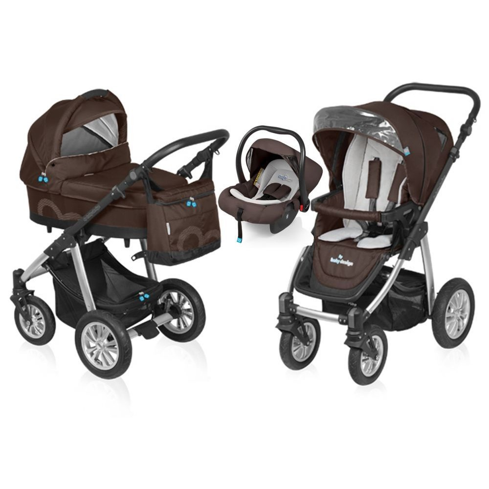 Carucior Baby Design Lupo Comfort 3 in 1 Brown