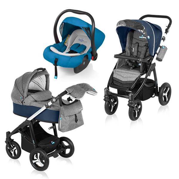 Carucior Multifunctional 3 in 1 Baby Design Husky Navy
