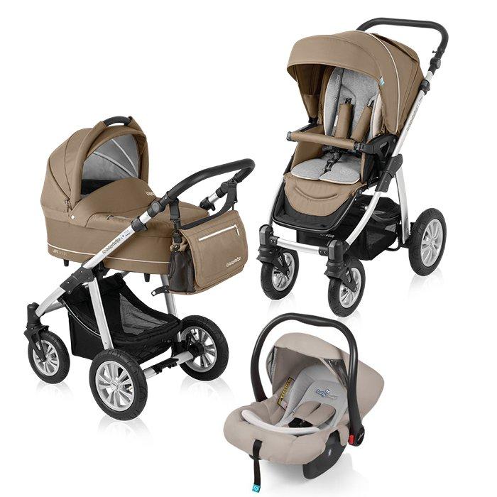 Carucior multifunctional 3 in 1 Baby Design Lupo Comfort Beige