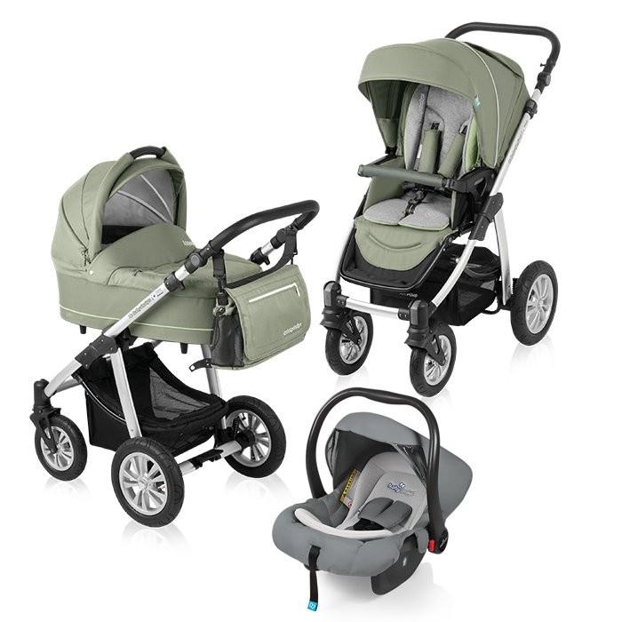 Carucior multifunctional 3 in 1 Baby Design Lupo Comfort Green