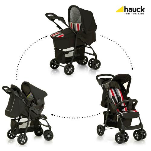 Hauck - Carucior Shopper Trioset Rainbow Black