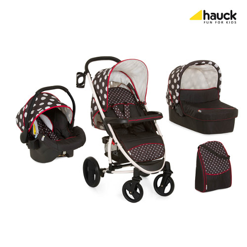 Hauck - Set Carucior Malibu XL All in One Dots Black