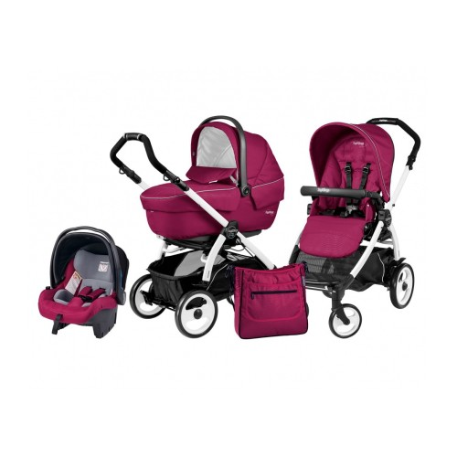 Peg Perego - Carucior 3 in 1 Book Plus 51 Black White Sportivo SL Agata