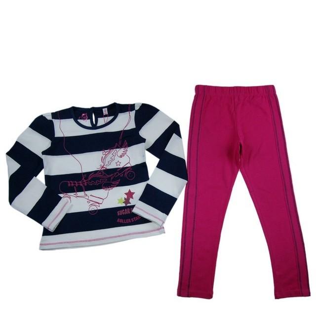 Compleu bluza si colanti Roller Sugar Pink