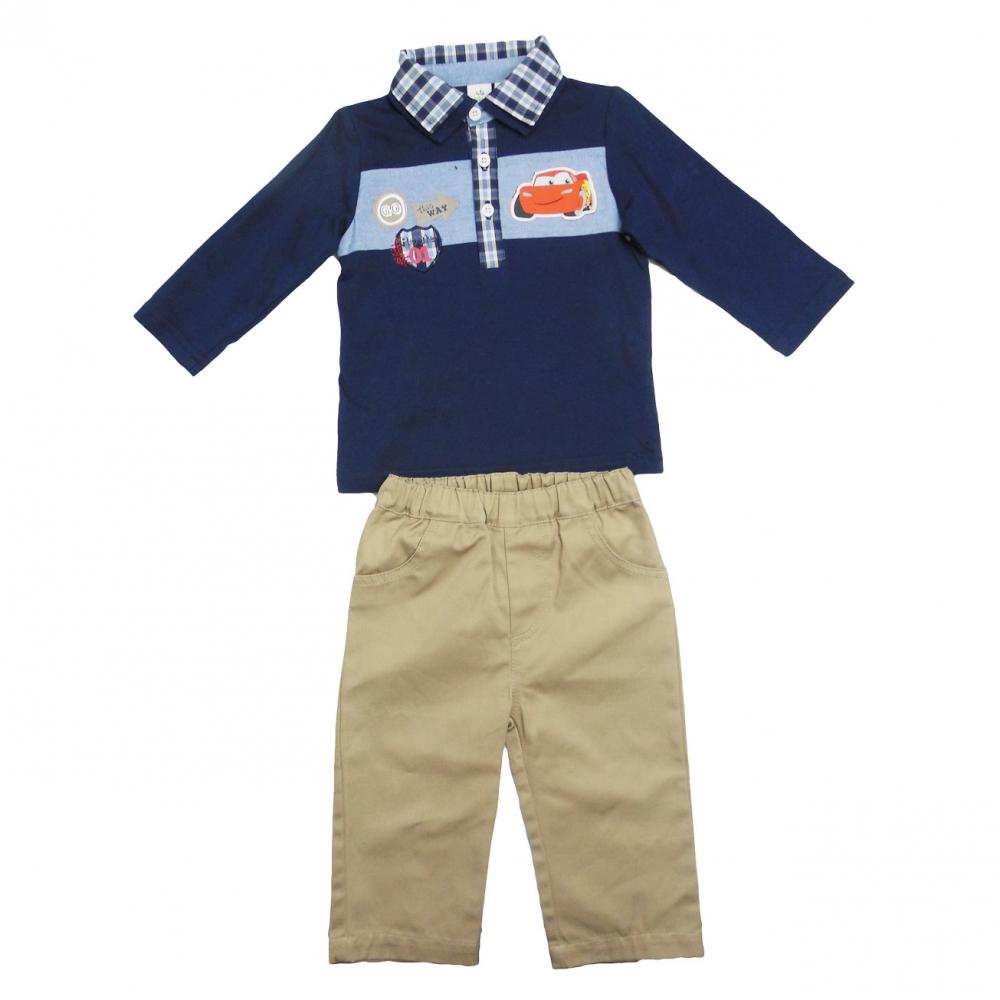 Set tricou cu maneci lungi si pantaloni lungi