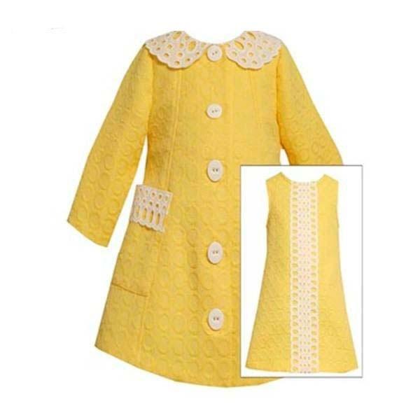 Set rochita si pardesiu Bonnie Jean cu imprimeu jacquard