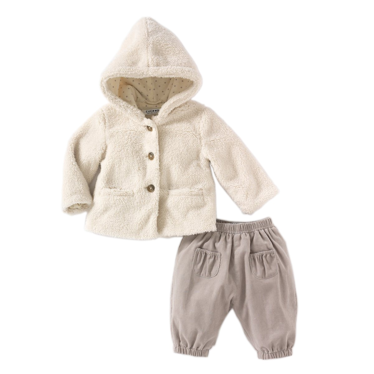 Set haina cu gluga si pantaloni Cocoon