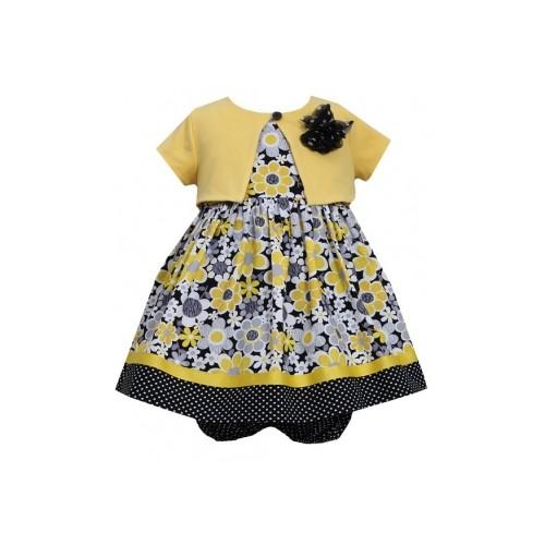 Set rochita si bolero Bonnie Jean Baby cu imprimeu floral
