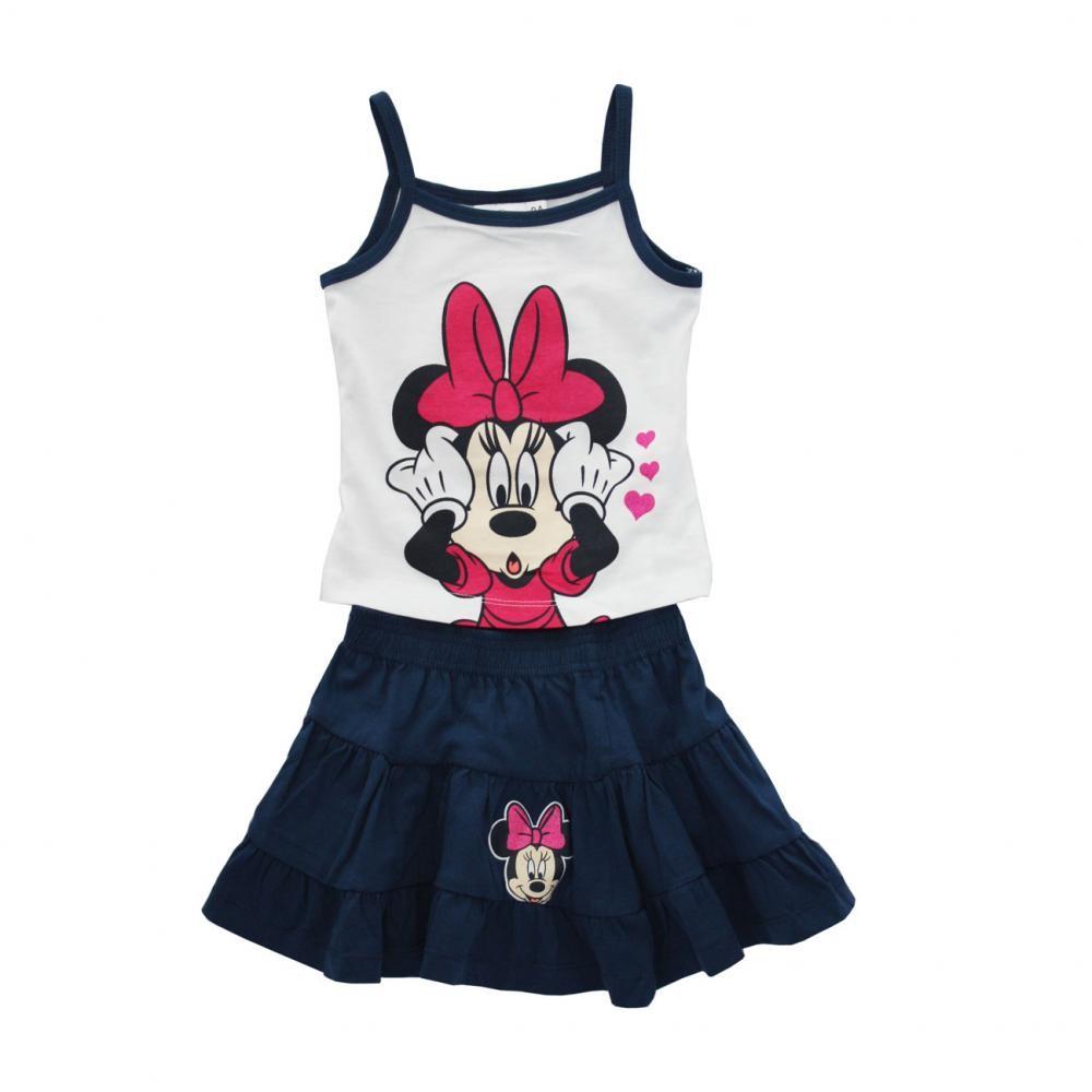 Set tricou fara maneci si fusta Disney Minnie Mouse Bleumarin 8 ani