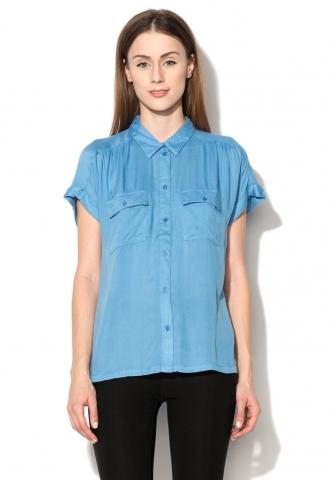 Camasa albastru pastel cu buzunare cu clapa Ila b.young