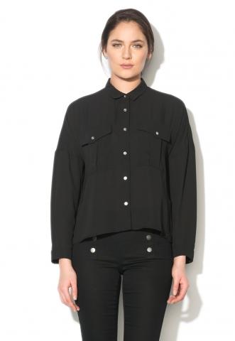 Camasa neagra din sifon Vicky Vero Moda