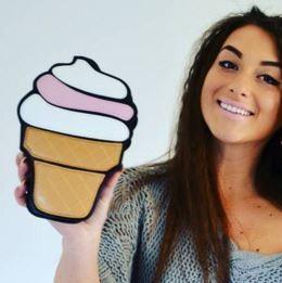 Geanta Cartoon Ice Cream Black