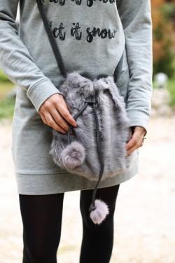 Geanta Puffy Grey