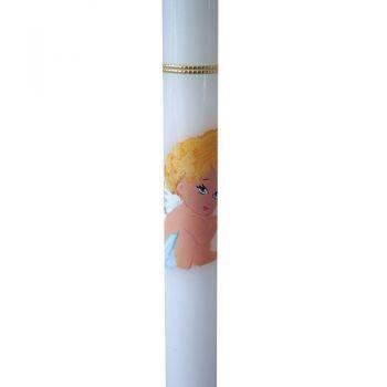 Lumanare Lumanaresele Botez Inger Pictat 50 cm