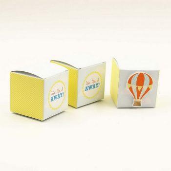 Marturie botez Cutie carton pentru bomboane Tema Calatoria