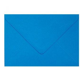 Plic colorat invitatie / felicitare albastru 130 mm x 130 mm