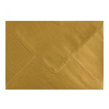 Plic colorat invitatie / felicitare auriu 114 x 162 mm