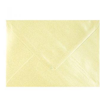 Plic colorat invitatie / felicitare crem sidef 114 x 162 mm