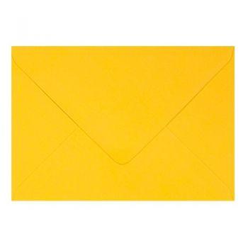 Plic colorat invitatie / felicitare galben 130 mm x 130 mm