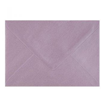 Plic colorat invitatie / felicitare lila sidef 110 x 220 mm