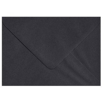 Plic colorat invitatie / felicitare negru 125 x 175 mm