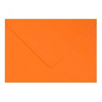 Plic colorat invitatie / felicitare portocaliu 155 x 155 mm