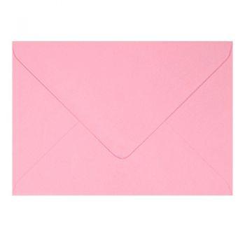 Plic colorat invitatie / felicitare roz 110 x 220 mm