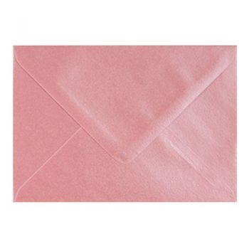 Plic colorat invitatie / felicitare roz sidef 114 x 162 mm