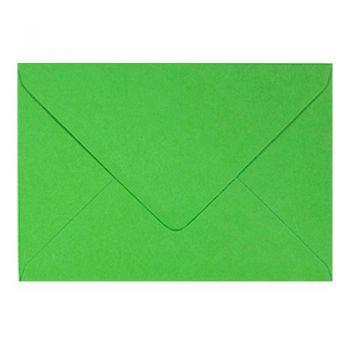 Plic colorat invitatie / felicitare verde crud 125 x 175 mm