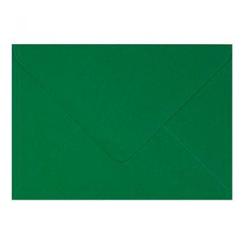 Plic invitatie / felicitare verde Craciun 110 x 220 mm
