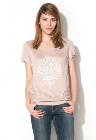 Tricou tricotat Sandra Cream