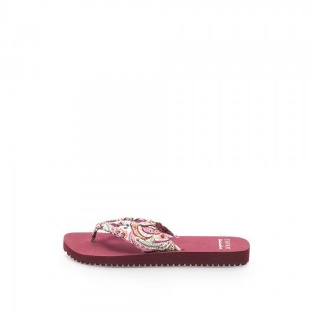 Papuci flip-flop multicolori cu imprimeu paisley Diva
