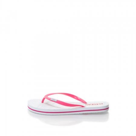 Papuci flip-flop alb cu roz