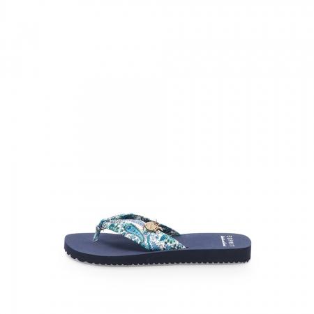 Papuci flip-flop multicolor cu imprimeu paisley Diva
