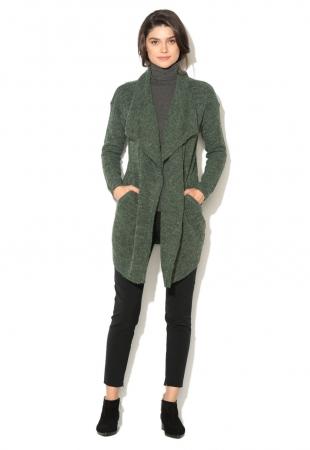 Cardigan verde inchis melange Novo ICHI