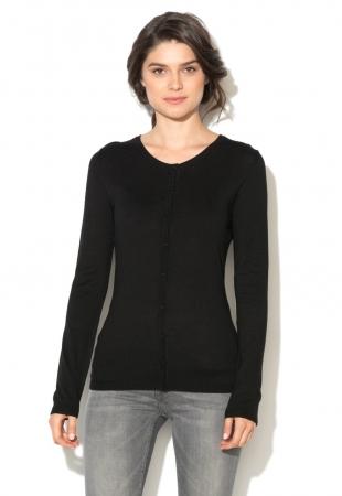 Cardigan negru tricotat fin ICHI