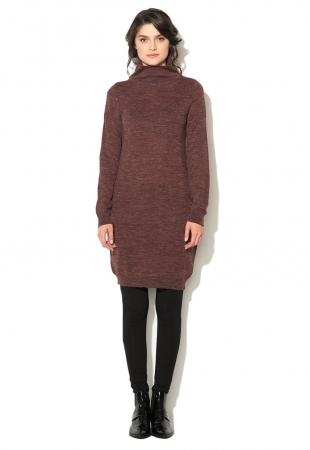 Rochie tip pulover rosu Bordeaux melange Marat ICHI