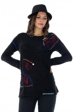 Pulover negru de dama