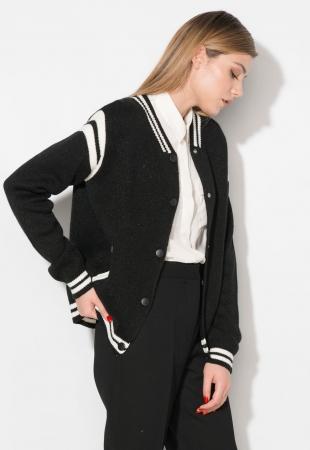 Cardigan negru cu alb Zee Lane Denim