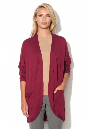 Cardigan roz zmeuriu fara inchidere United Colors Of Benetton