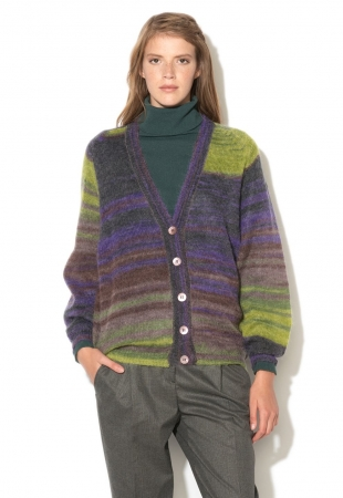 Cardigan multicolor din amestec cu mohair United Colors Of Benetton