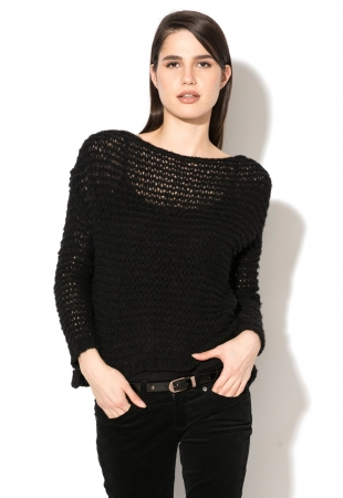 Pulover negru United Colors Of Benetton