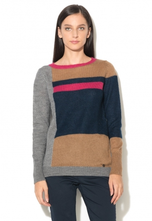 Pulover color block multicolor United Colors Of Benetton