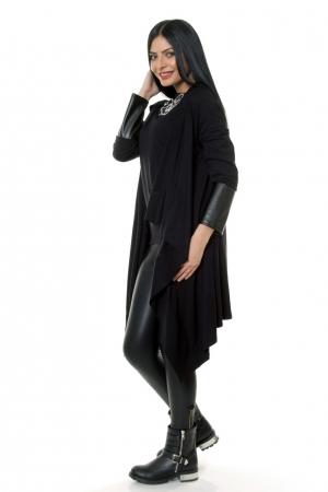 Cardigan negru dama Natalee piele