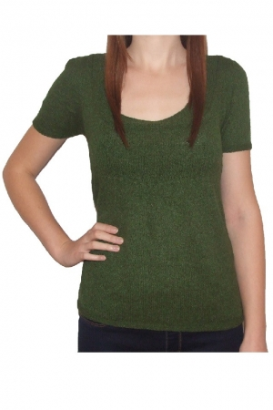 Pulover verde inchis Irina She