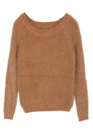 Pulover CremeCouture Basic Knit Maro