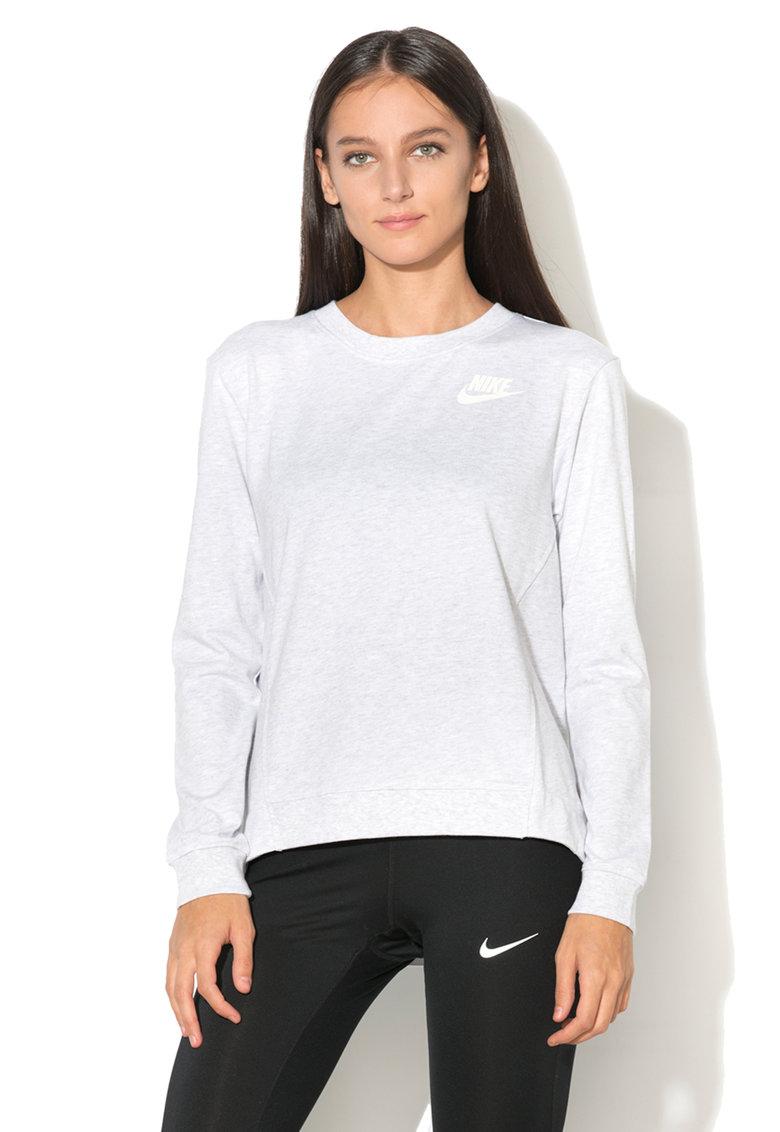 Bluza sport cu decolteu la baza gatului Gym Nike