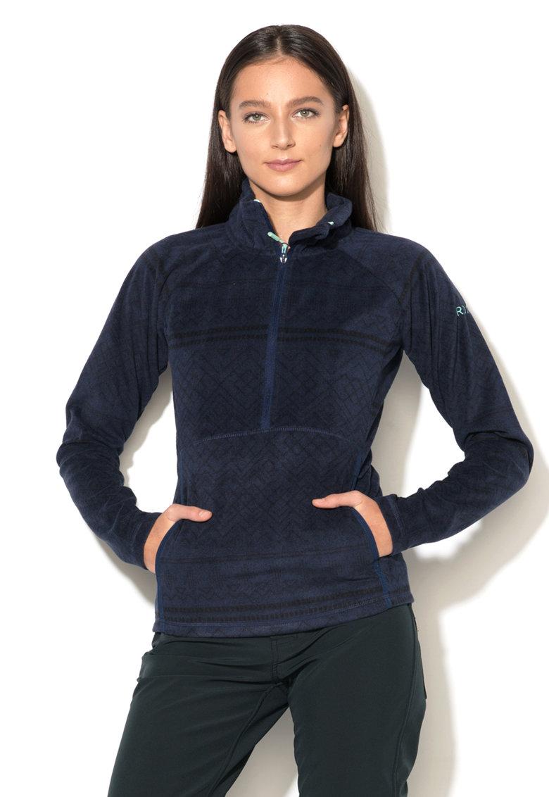 Bluza sport de fleece cu fenta si fermoar ROXY